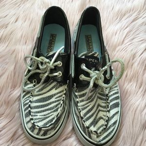 Sperry Zebra Print Shoes
